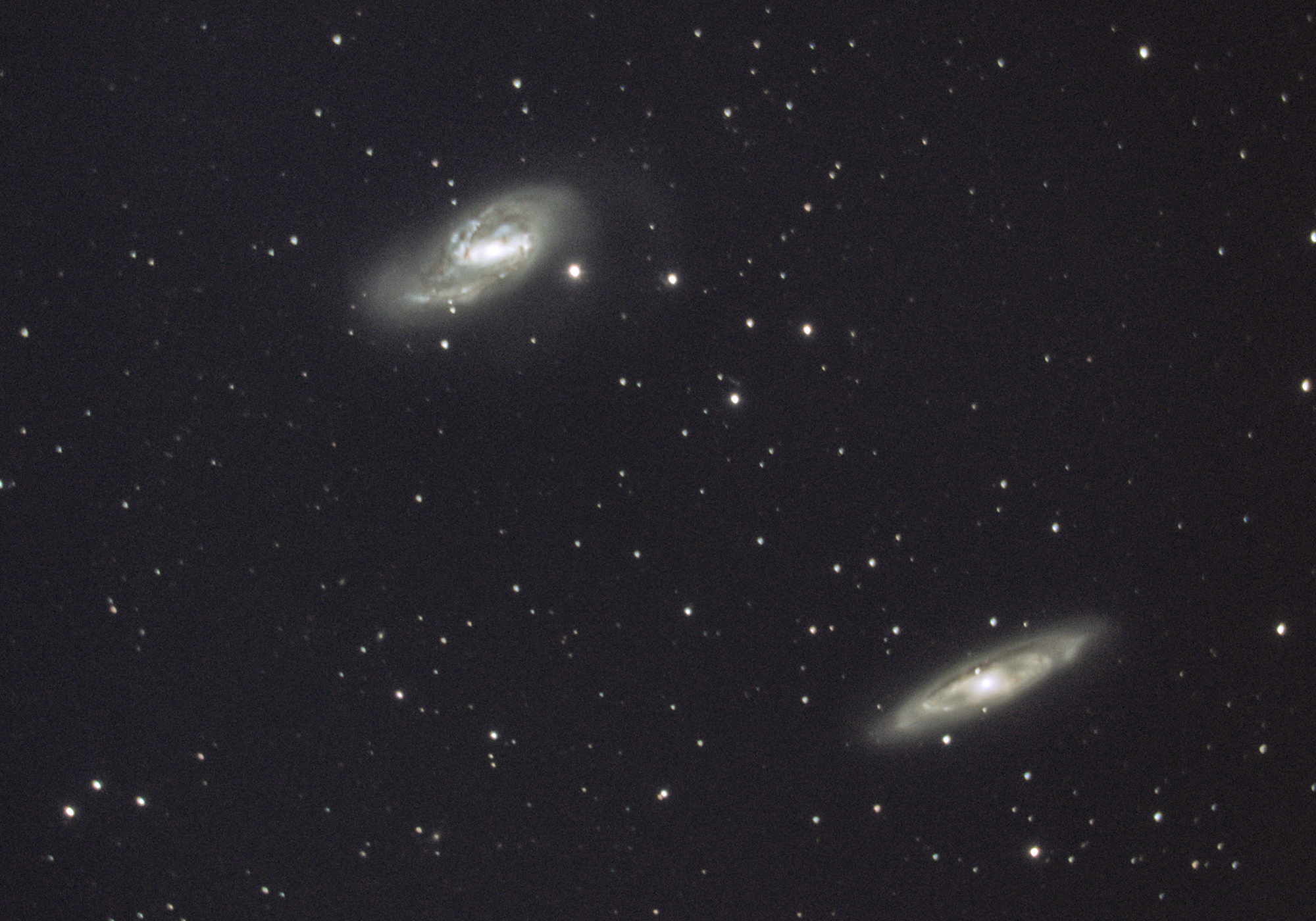 2/3 of the Leo Triplet: Messier 65 & Messier 66