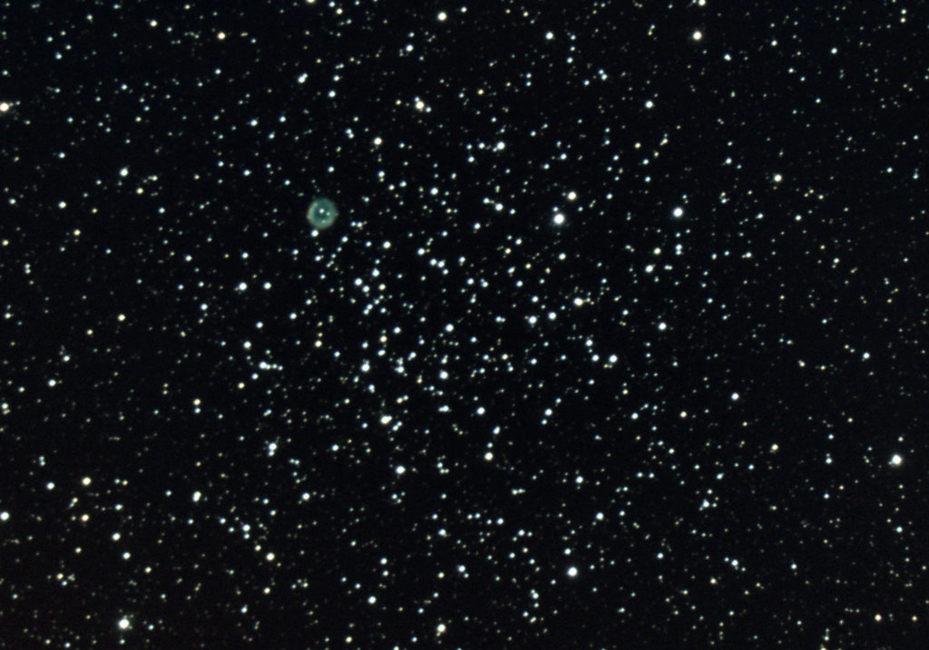 Messier 46 Open Star Cluster with Planetary Nebula