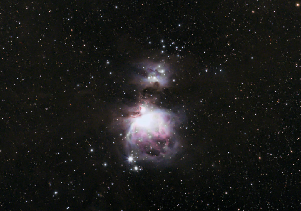 Orion Nebula M42 Widefield with Canon 6D camera and 70-200mm lens