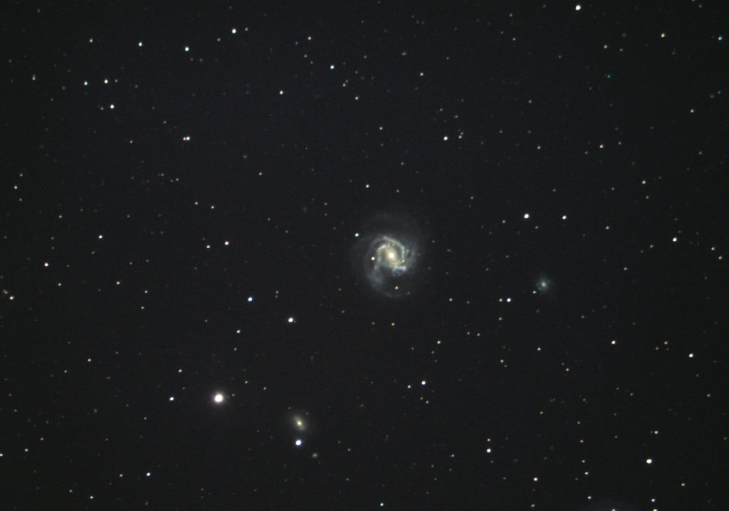 Photo of spiral galaxy Messier 61 / NGC 4303 taken in April 2020