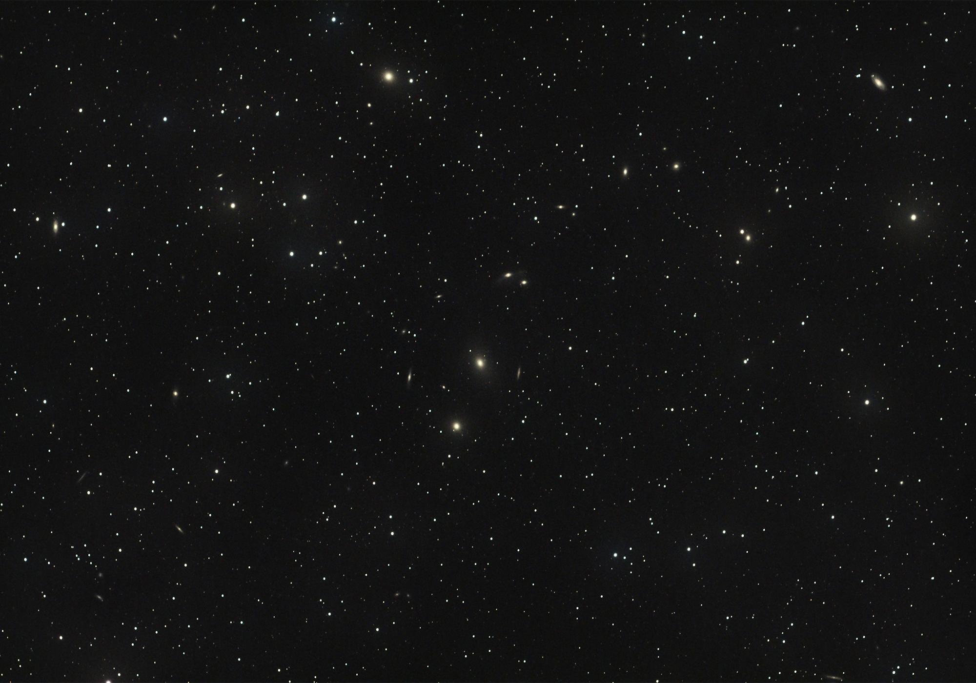 Hundreds of Galaxies in Markarian's Chain