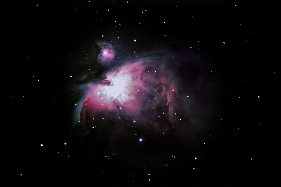 Astrophotography of the Orion Nebula, February 2018