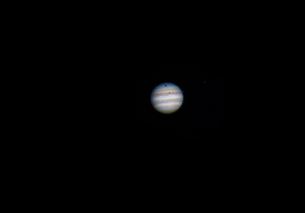 Planet Jupiter taken by amateur astrophotographer