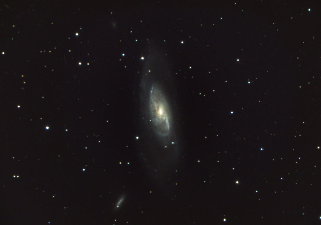 Amateur astrophotography of galaxy Messier 106