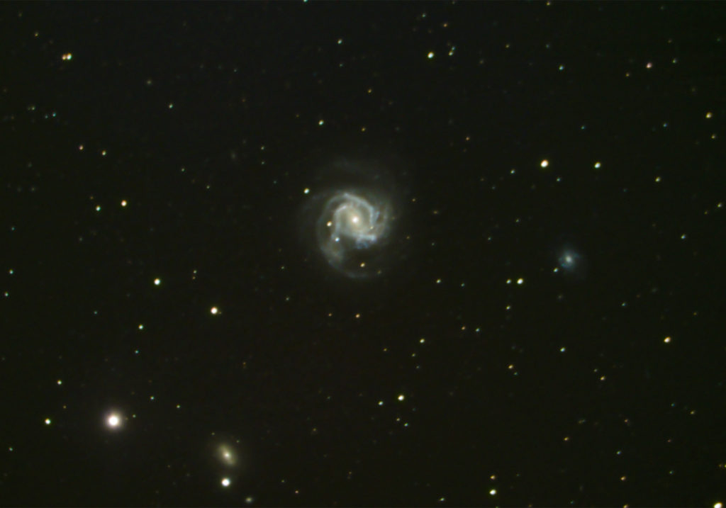 Galaxy Messier 61 and Supernova SN2020jfo taken by amateur astrophotographer