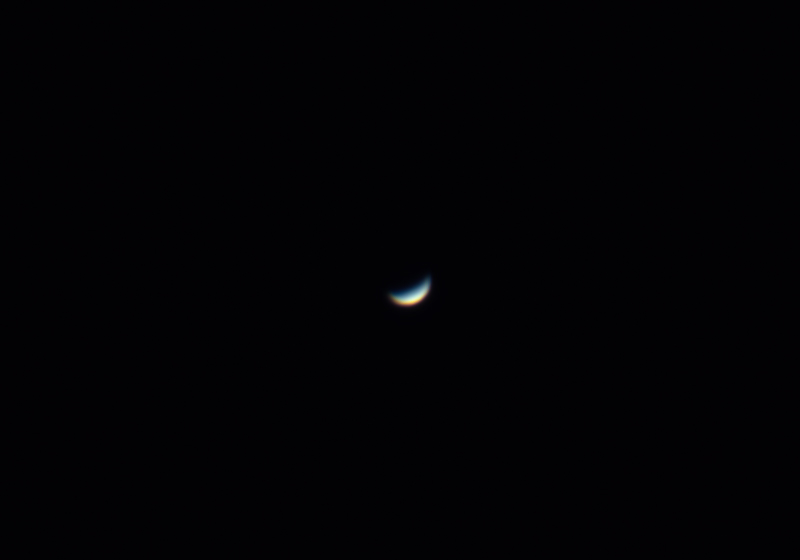 The planet Venus, taken on just after sunset on Thursday, April 16th 2020