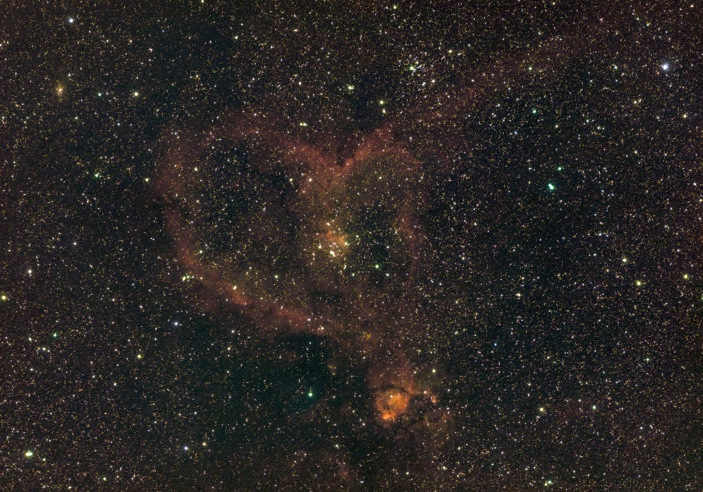 NGC 1795 The Heart Nebula, taken by amateur astrophotographer in June 2020